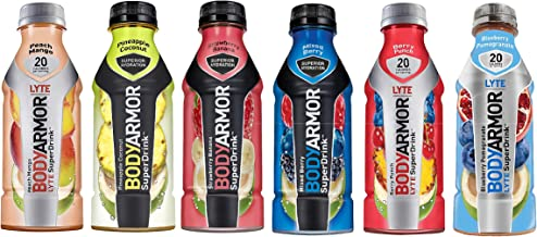 BodyArmor Superdrink Variety Pack, Two-of-each-Flavor (6 Flavors), 16 Ounce Bottles, 12 Pack