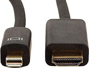 AmazonBasics Mini DisplayPort to HDMI Display Adapter Cable – 6 Feet