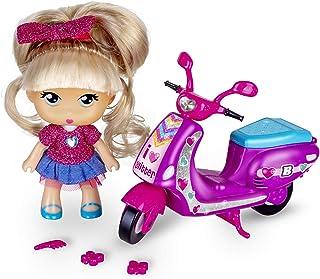 comprar comparacion los Barriguitas - Scootie de Purpurina, Moto con 1 fmuñeca, para niños y niñas de 4 a 8 años (Famosa 700014934)