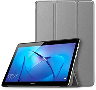 MoKo Case Fit Huawei MediaPad T3 9.6 Model AGS-W09, Ultra Lightweight Slim Smart-shell Stand Cover Case with Magnetic Closure for Huawei MediaPad T3 9.6 Inch Model AGS-W09 Tablet, Gray