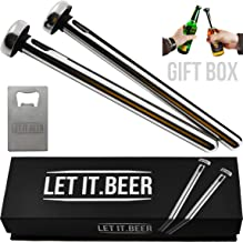Beer Chiller Sticks for Bottles - Birthday Gifts for Men - Great Christmas Gift - Beer Gift Ideas for Men - Bday Unique Gag Gifts for Men - Inexpensive Chillsner Beer Lovers Gifts for Men
