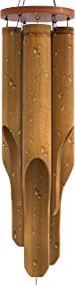 """Best Nalulu Classic Bamboo Wind Chime - Outdoor Wood Wooden Original Finish, 42"""" Large & Relaxation Ready Review"""