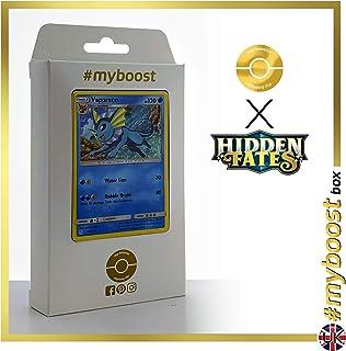 Vaporeon (Aquali) 18/68 Holo - #myboost X Sun & Moon 11.5 Hidden Fates - Coffret de 10 Cartes Pokémon Aglaises