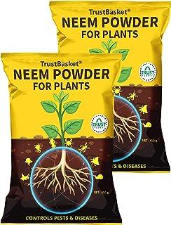 TrustBasket Neem Cake Powder Organic Fertilizer and Pest Repellent for Plants (450 GMS) - Set of 2