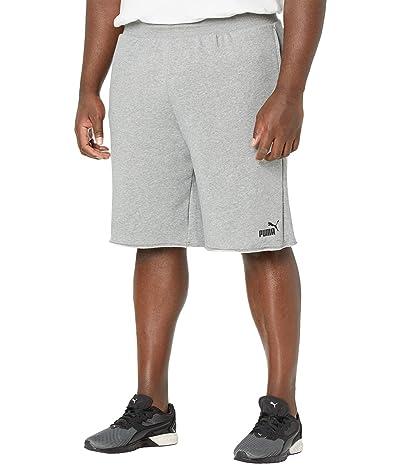 PUMA Big Tall Essential Shorts 12 (Medium Gray Heather) Men