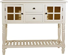 Décor Therapy Morgan Two Door Console Table, Antique White