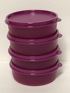 Tupperware Set of 4 Little Wonders Snack Bowls 6 Ounces Purple