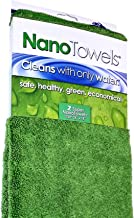 Life Miracle Nano Towels Supersized The Breakthrough Fabric That Replaces Paper Towels and Toxic Chemical Cleaners. Use As Bath Towels, Kitchen Towels, etc. All Purpose Cleaning Wipes 26x18