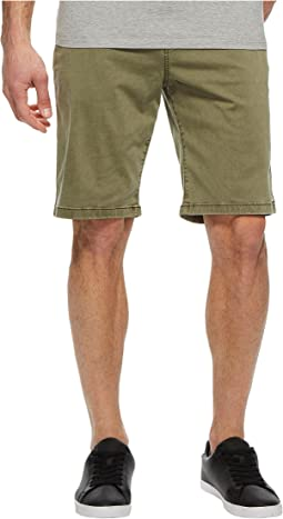 Stretch Sateen Flat Front Shorts