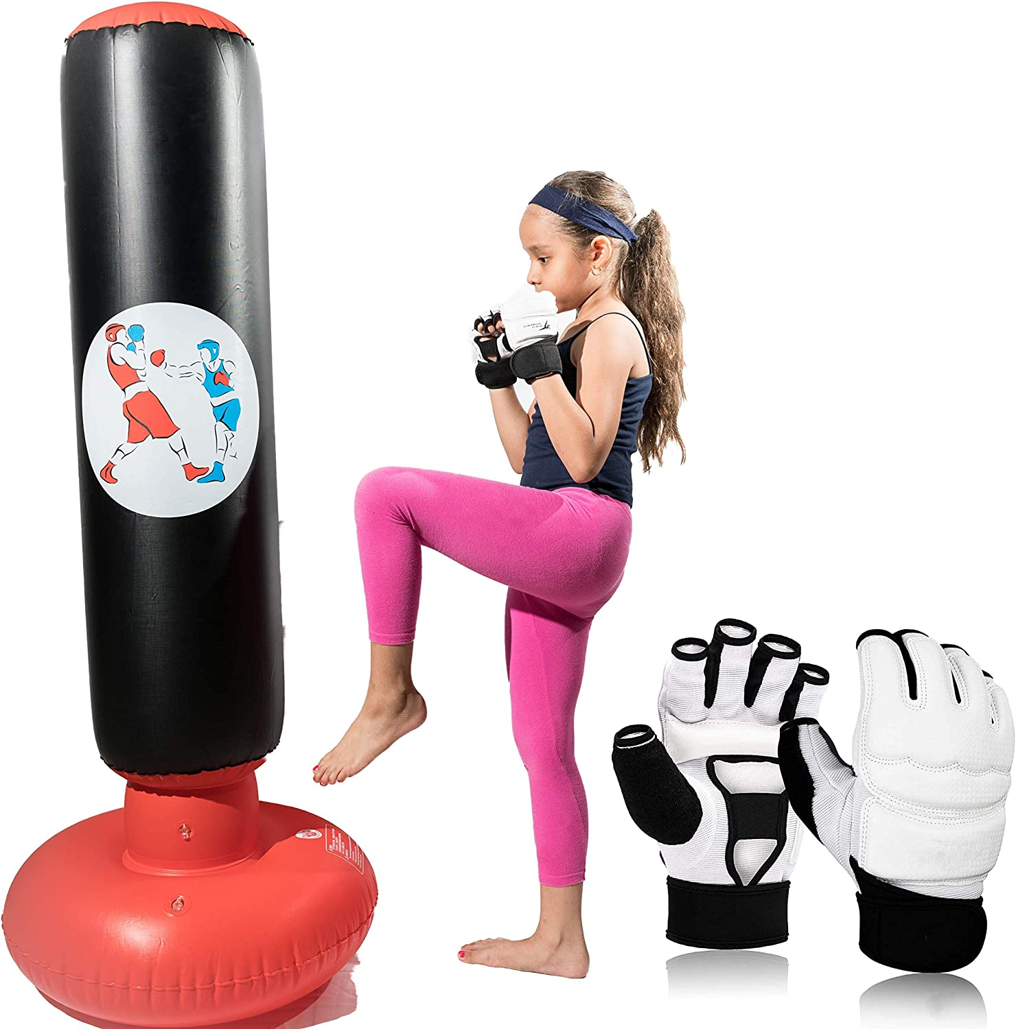 Kids OFFicial store Bombing free shipping Punching Bag with for - Stand Gloves