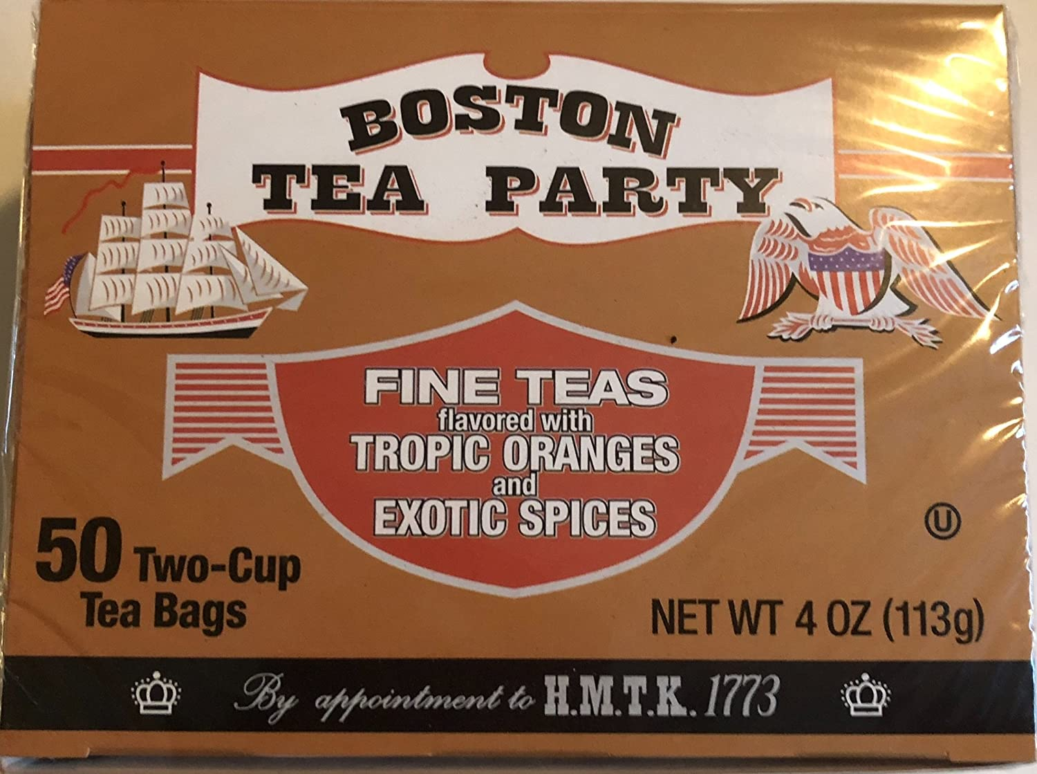 Boston Tea Party 50 count High material Manufacturer regenerated product - 6pk bags tea box