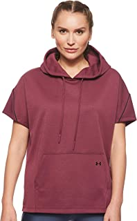 Under Armour Women's Double Knit Ss Hooded Tunic Hoodie