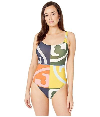 Tory Burch Swimwear Printed Tank Suit (Broken Logo) Women