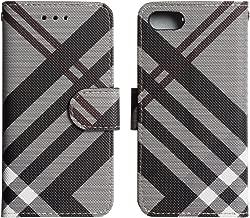 iPhone XR ケース 手帳型 スマホ ケース チェック柄 カード ストラップ スタンド Qi対応 カバー 黒 「エルナト」 iPhoneXR,ブラックチョコレート