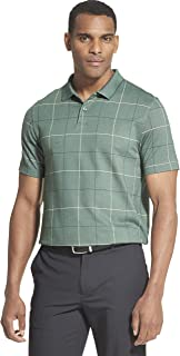 Men's Flex Short Sleeve Stretch Windowpane Polo Shirt