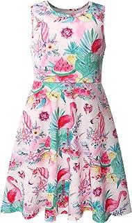 Bonny Billy Girl's Pineapple Print Cotton Beach Tank Dresses