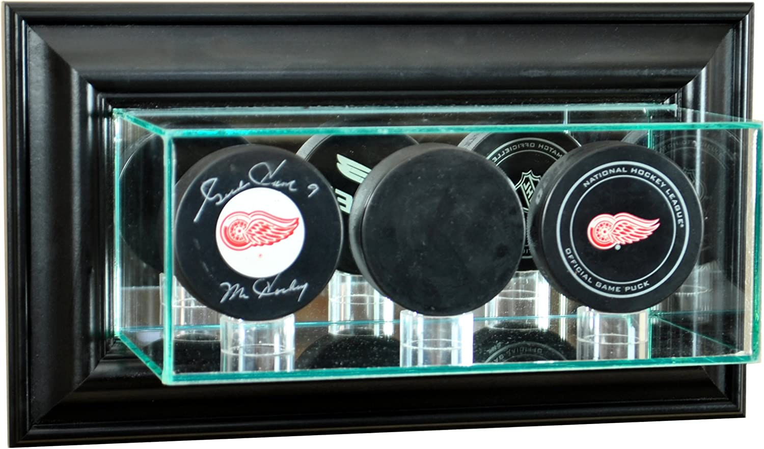 NHL Wall Mounted Triple Puck Glass Display Case