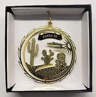 Santa Fe Brass Ornament Black Leatherette Box New Mexico
