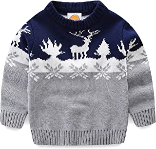 Boys Christmas Sweaters Xmas Reindeer Clothes