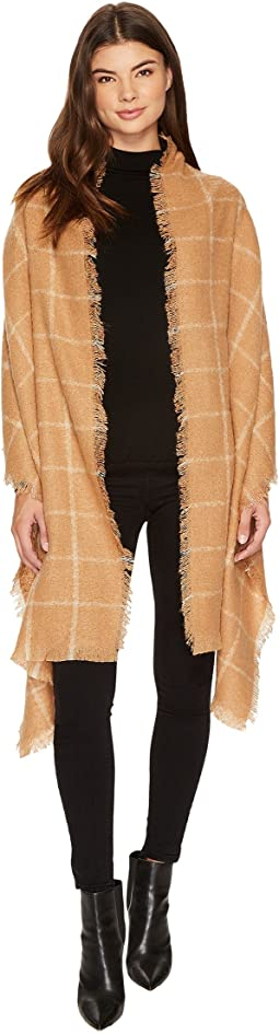 LAUREN Ralph Lauren - Windowpane Mohair Blanket Wrap