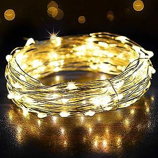 Guirlande Lumineuse 12M 120LED, OMERIL Fairy Lights IP65 Etanche Décoration Romantique pour Sapin de Noël Mariage Fête Fes...