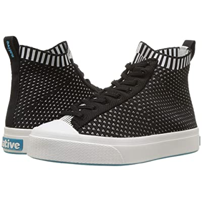 Native Kids Shoes Jefferson 2.0 High Lite (Little Kid) (Jiffy Black/Shell White) Kids Shoes