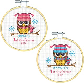 Dimensions 'Baby's First Christmas' Counted Cross Stitch Kit, 14 Count White Aida, 4''D