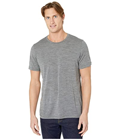 Icebreaker Tech Lite Short Sleeve Crewe (Gritstone Heather 2) Men