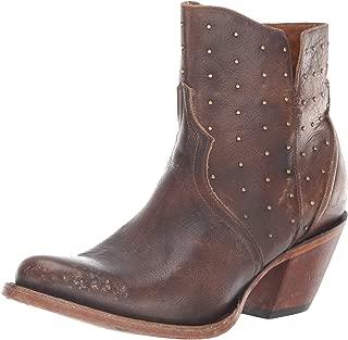 حذاء حريمي Lucchese Bootmaker Harley متوسط الساق، لون شوكولاتة حجرية، مقاس 7 B US