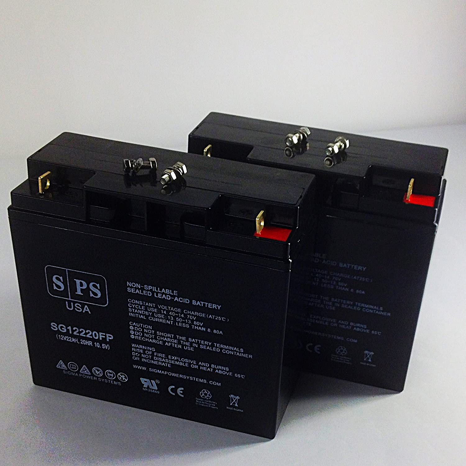 SPS Brand 12V 22Ah Replacement Battery 12 5 ☆ popular for Scooter Max 50% OFF BB BP17