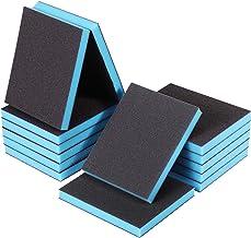 14 Pieces Sanding Sponges Washable Sanding Blocks Wet and Dry Sponge Sanding Pads Sand Sponge Kit for Plastic Wood Metal F...
