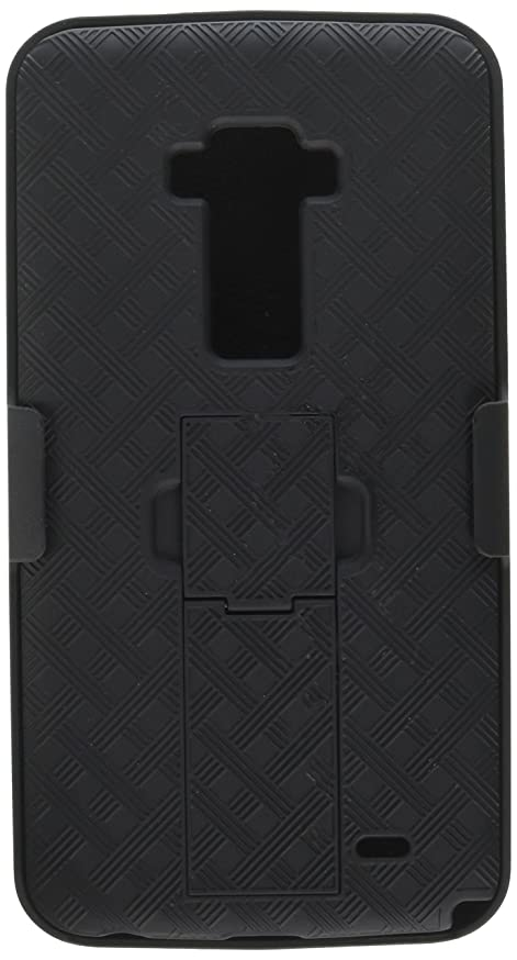 NAKEDCELLPHONE'S Black Kickstand Hard CASE Cover + Belt Clip Holster Stand for LG G Flex GFLEX Phone (AT&T D950, Sprint LS995, T-Mobile D959n, Unlocked F340 D955 D958 D959 F340s L23)