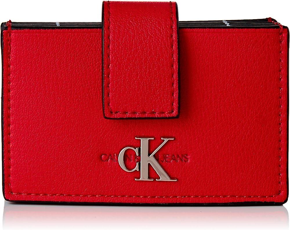 Calvin klein,portafoglio,porta carte di credito per donna,in ecopelle K60K606611