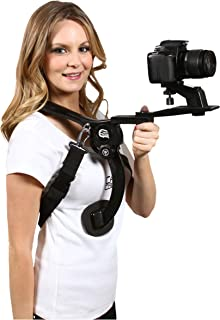 Cam Caddie Scorpion EX Hands Free Shoulder Support Rig / Mount Compatible with Canon, Nikon, Sony, Panasonic / Lumix Style DSLR Camcorder or Video Camera
