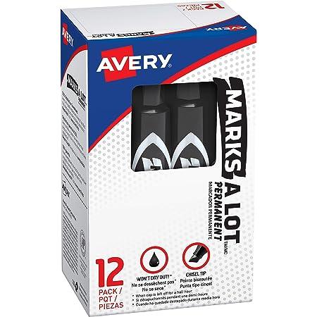 Black 17888 Marks-A-Lot Chisel Tip Permanent Marker 1 Marker