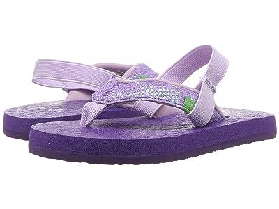 Sanuk Kids Yoga Glitter (Toddler/Little Kid) (Purple) Girls Shoes