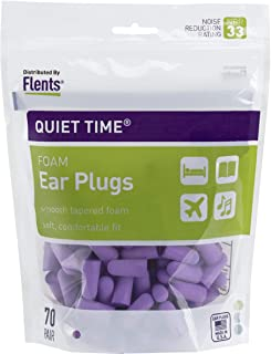 Flents Ear Plugs (70 Pair), Quiet Time Ear Plugs for Sleeping, Snoring, Loud Noise, Concerts, Construction, Studying & Tra...