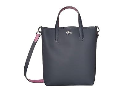 Lacoste Anna Vertical Shopping Bag (Pink Madras/Clay/Archipelago/Antirrhinum/Passion Flower/Pollen) Handbags