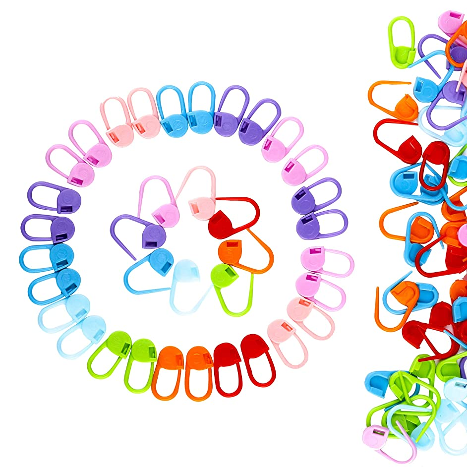 Locking Stitch Markers 104 Pieces Knitting Stitch Counter Multi-Colored Crochetitch Needle Clip with Compartment Box