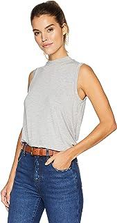 Amazon Brand - Daily Ritual Women's Jersey Sleeveless Boxy Mock-Neck Shirt
