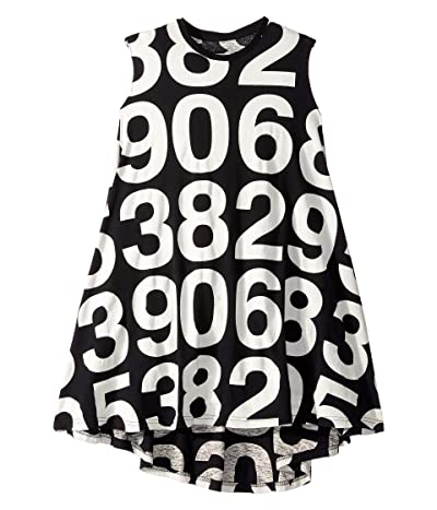 Nununu Numbered 360 Dress (Little Kids/Big Kids) (Black) Girl