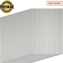 Premium 2040 Pcs 20 Sheets Transparent Photo Corners Stickers Self Adhesive for Notebook Personal Journal Picture Album Diary DIY Scrapbook Craft
