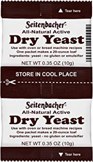 Seitenbacher Active Dry Yeast, 0.70-Ounce Packages (Pack of 16)