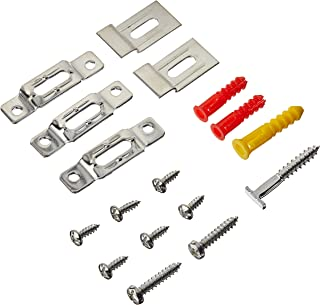 Security Hangers Sec_5 Hardware Brackets for Art Picture Frame, Mirror Secure Safe Hanging Installation with Free Wrench