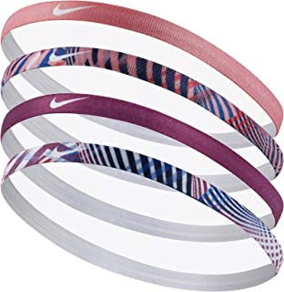 Nike Girls Assorted Headband 4 pack Blue/Berry/Sunblush