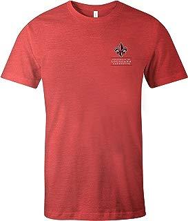 NCAA Louisiana Lafayette Ragin' Cajuns Adult NCAA Simple Mascot Short sleeve Triblend T-Shirt,Medium,Red