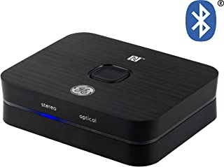 GE UltraPro Bluetooth Audio Receiver, NFC, Supports A2DP, SBC, APT-X, FCC Certified, Micro USB Cord, 3.5mm Audio Cable, 3....