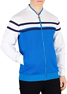 Fila Men's Naso Chest Stripe Track Jacket, Blue