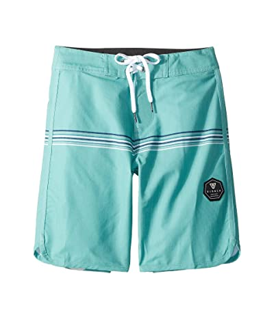 VISSLA Kids Dredges 4-Way Stretch Boardshorts 17 (Big Kids) (Jade) Boy