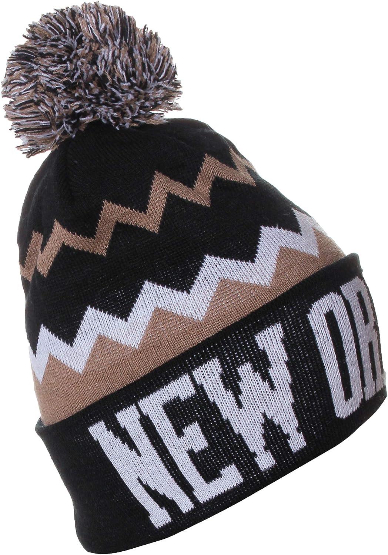 Very popular! American Cities USA Chevron Zig Pom price Beanie Knit Hat Zags